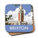 Brixton cork backed drinks coaster    (se)